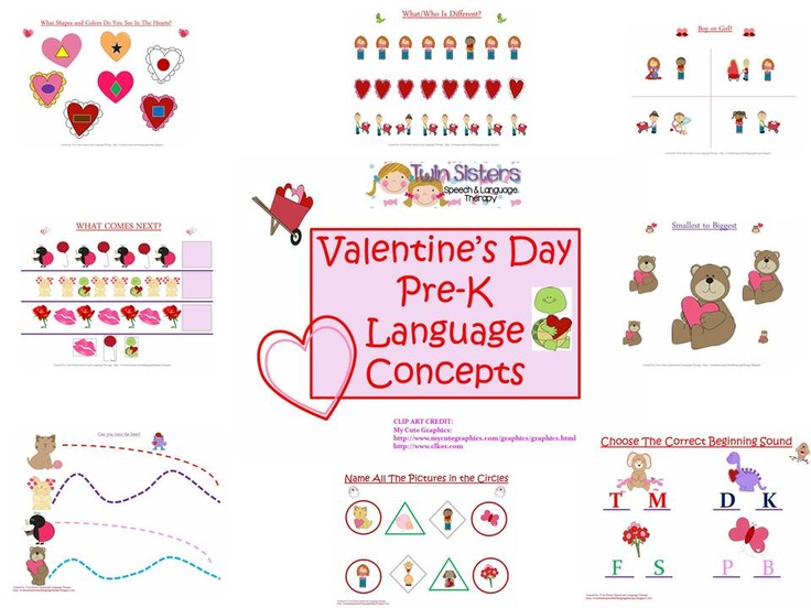 Pre-k Valentine's DayThemed Language Concepts!
