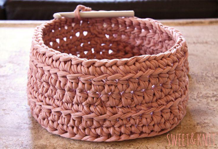 Cesta en crochet xxl crochet xxl trapillo pinterest - Cestas de trapillo ...