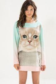 vestido moletom gato