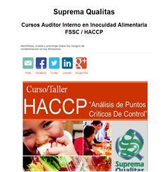 Cursos Auditor Interno en Inocuidad Alimentaria FSSC / HACCP - Publicidad