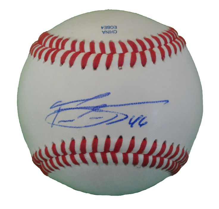 Pedro Strop Autographed Rawlings ROLB Leather Baseball, Proof Photo