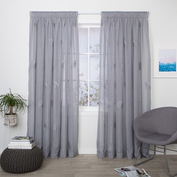 Isabella Mist Readymade Sheer Pencil Pleat Curtain Studio Curtains Online