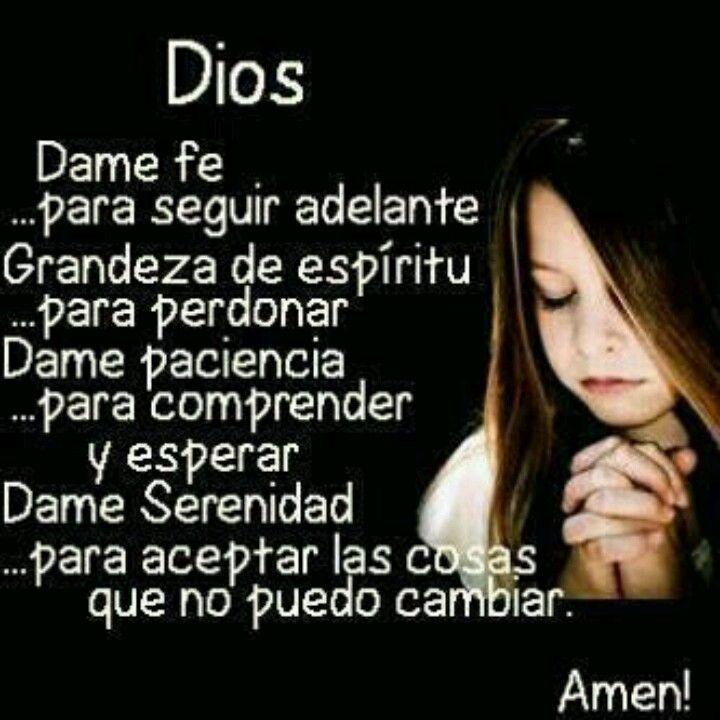 Serenity Prayer in Spanish. Beautiful