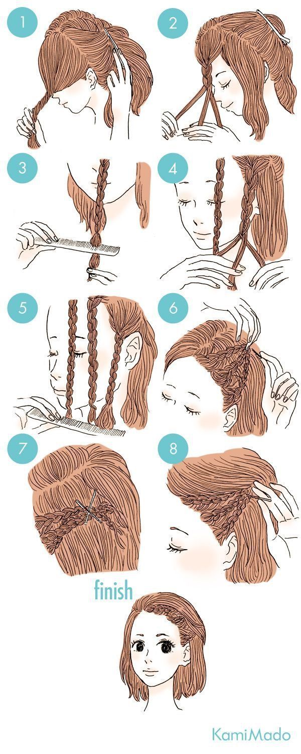 A cool and easy hairstyle when you go to work or school