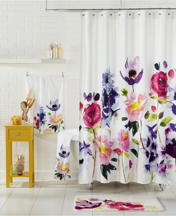 """Fresh floral prints in maxi-blooms brighten up your bath with this Taransay shower curtain from bluebellgray. 