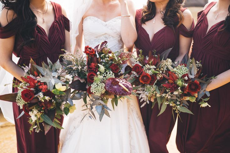 Bride and bridesmaid wedding bouquets. Wedding theme of vintage-rustic and natural feel. See more here! | Lime Tree Bower