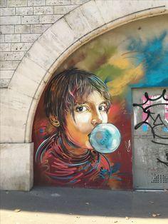Street art bd Vincent Auriol artiste Christian Guemy C215