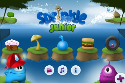 """Sprinkle Junior. Tijs thinks he's having fun, I think he is problem solving and picking up a little bit of physics on the way. Basically you direct a water canon to overcome obstacles, solve puzzles and put out fires. There's no time limits and an unlimited water supply so more fun for littlies than the advanced version """"Sprinkle"""". 30 different levels ensure it doesn't get old. Great on your iPhone as a diversion when the queue at the checkouts is halfway to Africa. For him as well."""