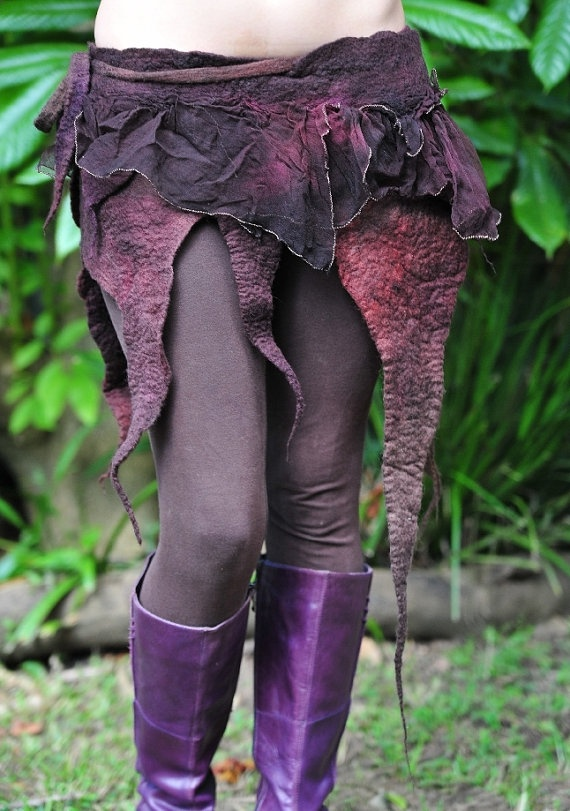 Felt Fairy Pointed Silk Layered Tu Tu Pixie Belt