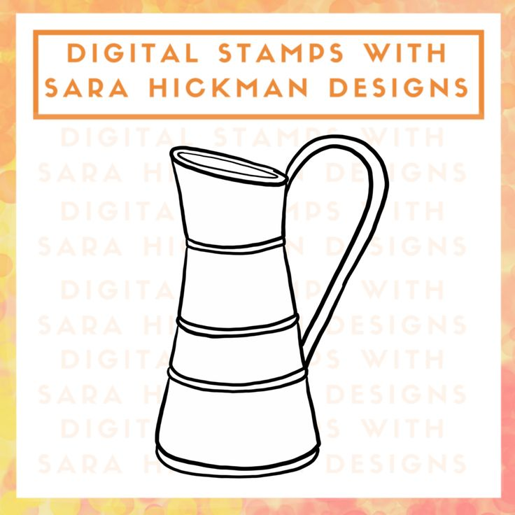 Digital Stamps: Rustic Pitcher