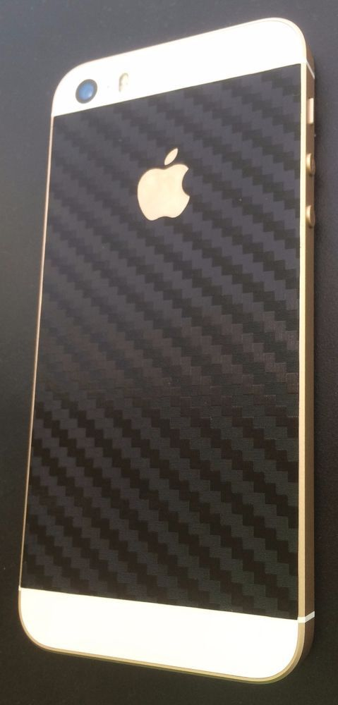 Iphone 5 5s SE Backcover Schutzfolie 2X in verschiedenen Farben Carbonfolie  | eBay