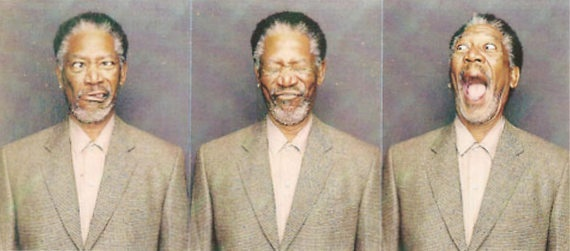 Morgan Freeman in a photobooth…that's just awesome.