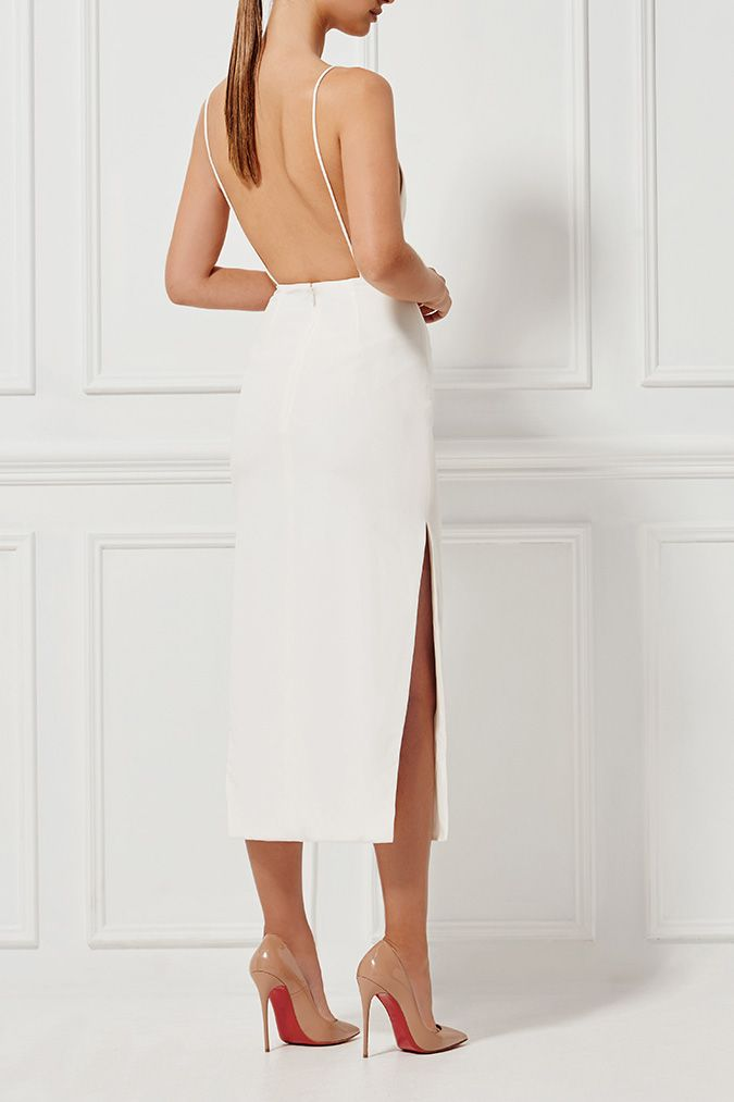 ALESSANDRA SILK DRESS MILK - Dresses - Shop