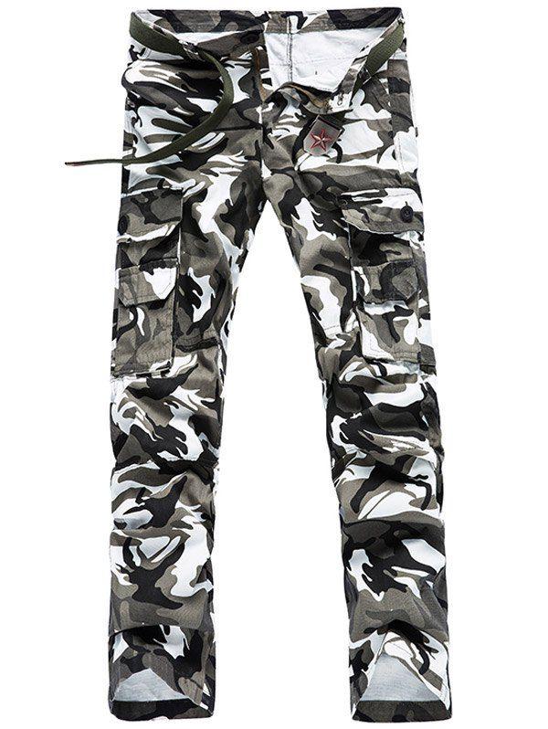 Camo Pattern Multi Pockets Cargo Pants For Men #shoes, #jewelry, #women, #men, #hats