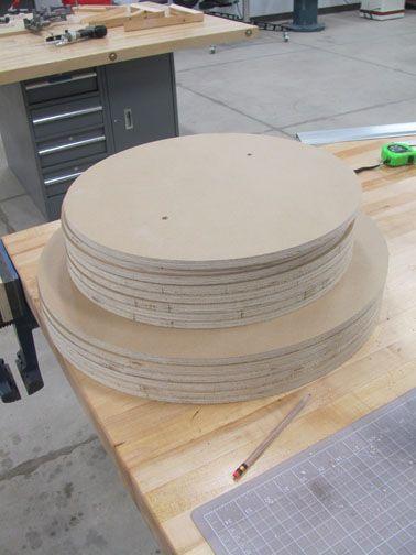 Ceramics Wheel Throwing Bats... homemade from marine grade plywood