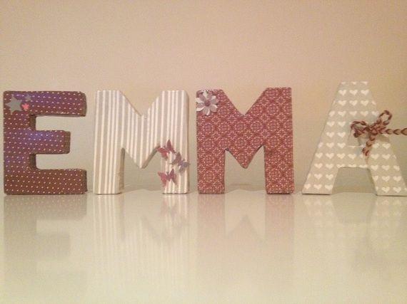 decoracion letras carton - Buscar con Google