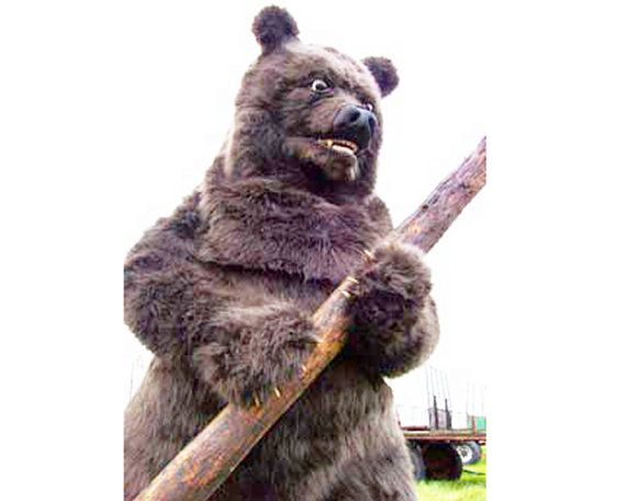 Realistic Grizzly Bear Animal costume. Handmade. ADULT SIZE. Eco & animal friendly. Fur costumes suit.