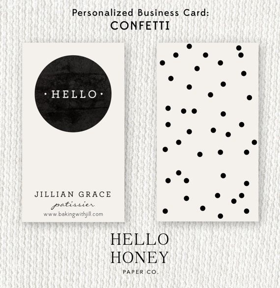 Chic business card design from Hello Honey Paper Co. Fully Customizable. Fully YOU!