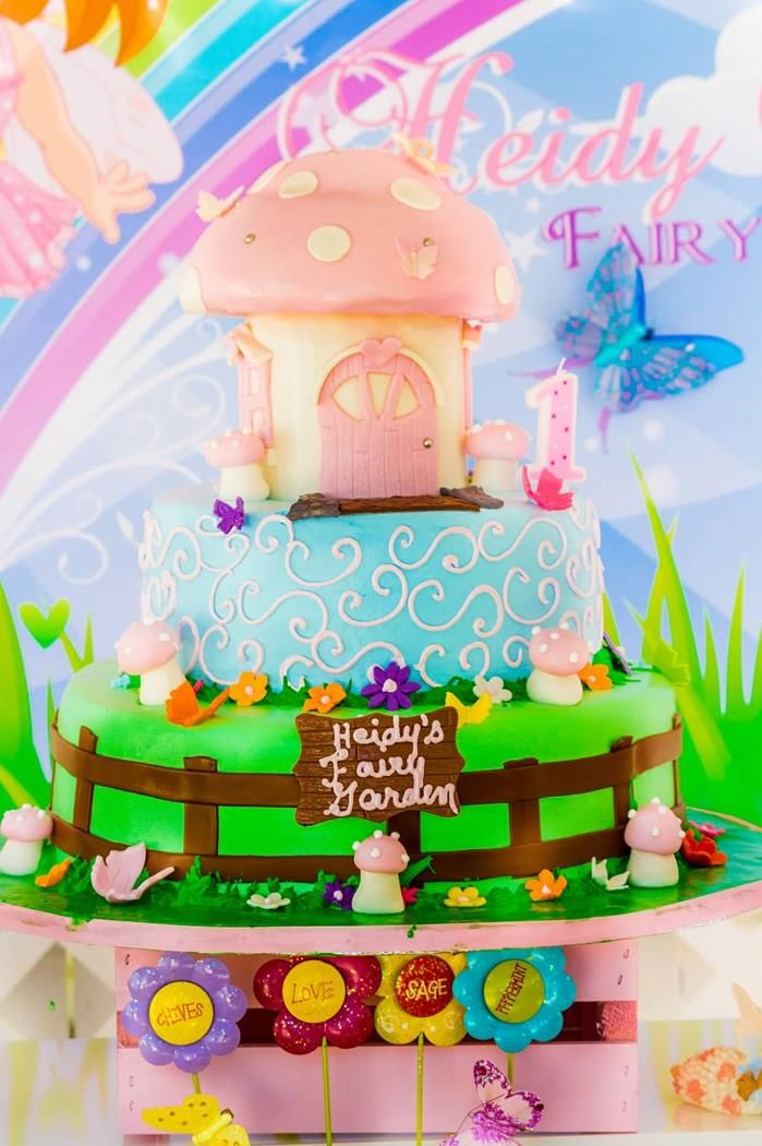 Butterfly Fairy Birthday Decorations Image Inspiration of Cake