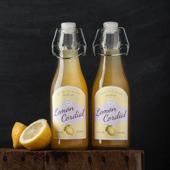 Make your own lemon cordial, bottle it and add the finishing touch with these free printable labels. Makes a great little gift!