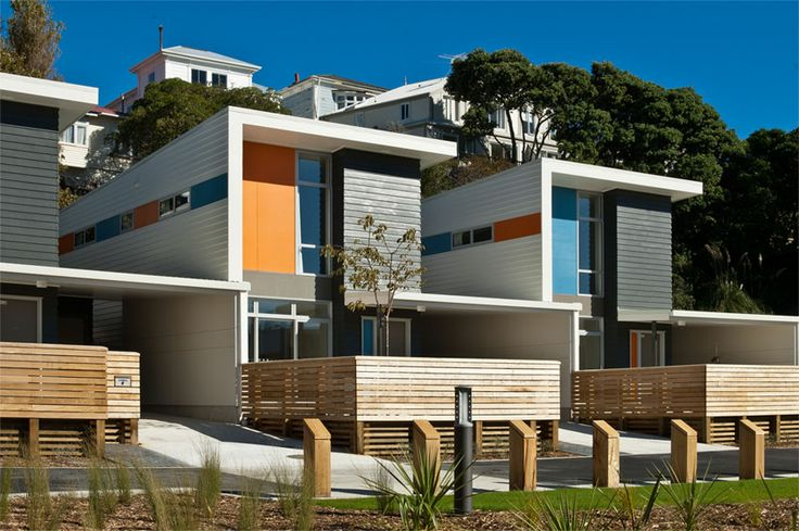 The clever colour selection and placement on the WCC Regent Park Development by Designgroup Stapleton Elliott won the Resene Total Colour Residential Exterior Award. This project also won the Resene Total Colour Maestro Nightingale Award.