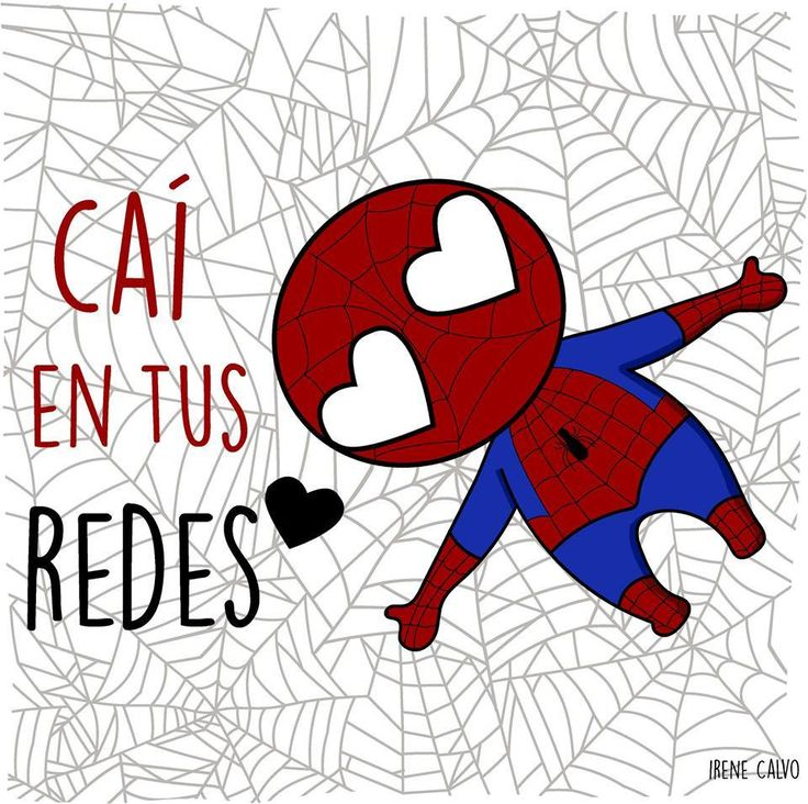 Ilustracion inspirada en Spiderman de Irene Calvo