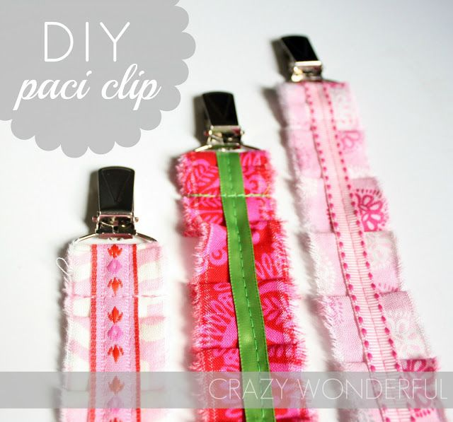 Tutorial for DIY Pacifier clips,  Cute baby gift idea.
