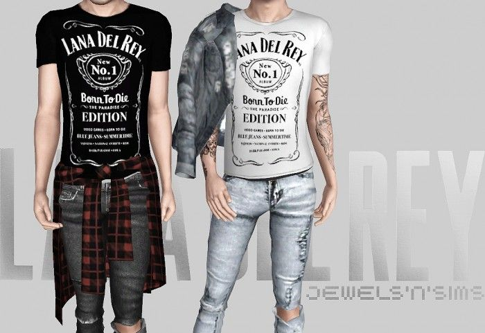 Lana del Rey x Jack Daniels Male T-Shirts by Jewels'N'Sims - Sims 3 Downloads CC Caboodle