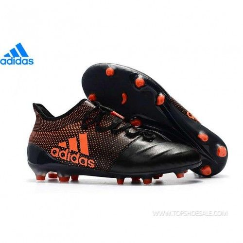 972528b12a41f adidas X 17.1 FG Leather S82307 MENS Core Black Solar Red Solar Orange SALE  FOOTBALLSHOES