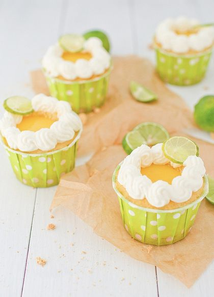 Key Lime Pie Cupcakes...recipe at annieeats