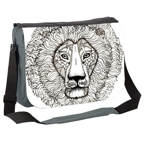 Lion Messenger Bag by rebeccachalloner at zippi.co.uk