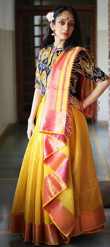 Best 25+ Saree draping styles ideas on Pinterest | Saree wearing styles, Saree wearing and Sari ...