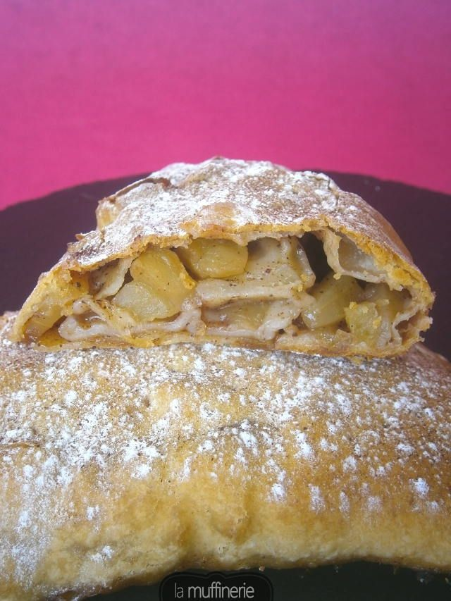 Strudel de Manzana (Apfelstrudel). Apta para vegetarianos-veganos, sin huevo, sin lactosa. La Muffinerie.com