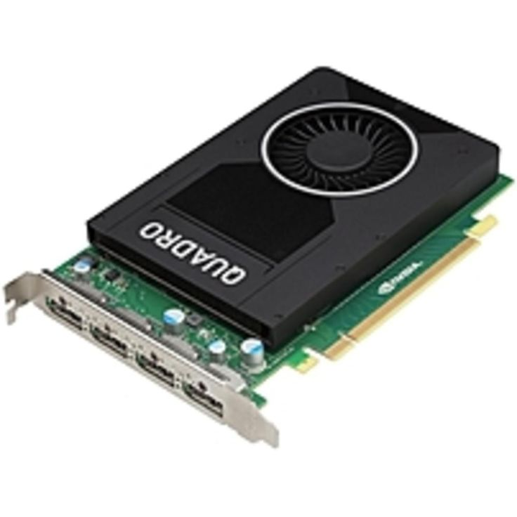 PNY Quadro M2000 Graphic Card - 4 GB GDDR5 - PCI Express 3.0 x16 - Single Slot Space Required - 128 bit Bus Width - Fan Cooler - OpenGL 4.5, OpenCL, DirectX 12, DirectCompute 5...