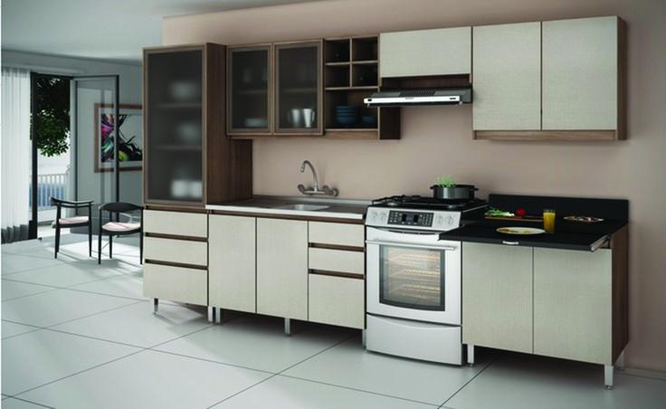 REF: Dit-KIt de cozinha ref madri cor Noce Madri/branco/Lineo