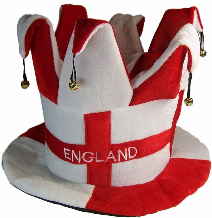 Jesters Hat - England Flag of St George