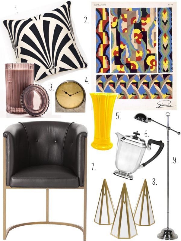 Art Deco Inspired Home Accessories Home Decor Accessories