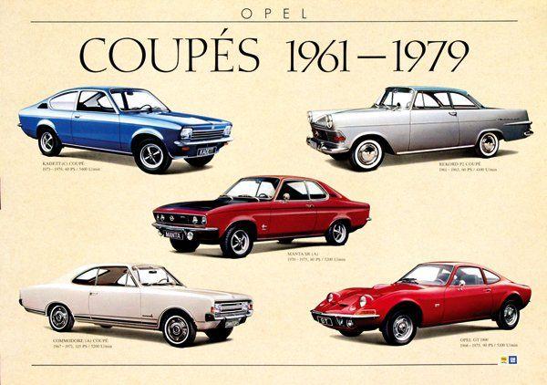 Opel Coupés 1961-1979