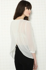 Pins & Needles Dot Tulip Back Top at Urban Outfitters
