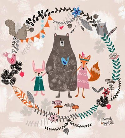 Beautiful illustration print & pattern: DESIGNER - wendy brightbill