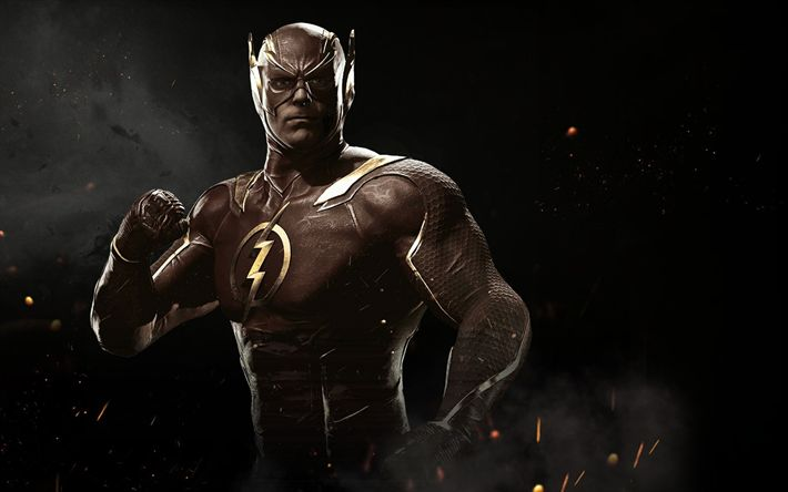 Download wallpapers Flash, fighting, 2017 games, Injustice 2