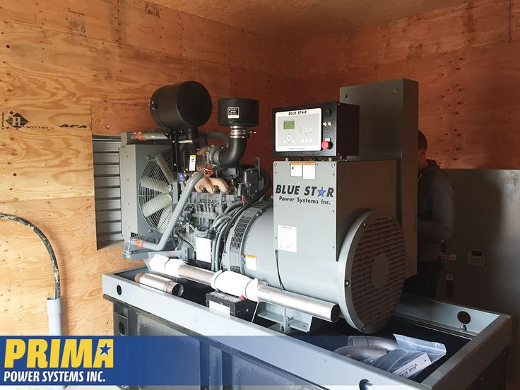 A tight squeeze, but it fits! A Blue Star Gen set from PRIMA being delivered to a great customer in the #FraserValley! #generators #powersystems