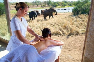 Ellies and a massage...what could be better?!?