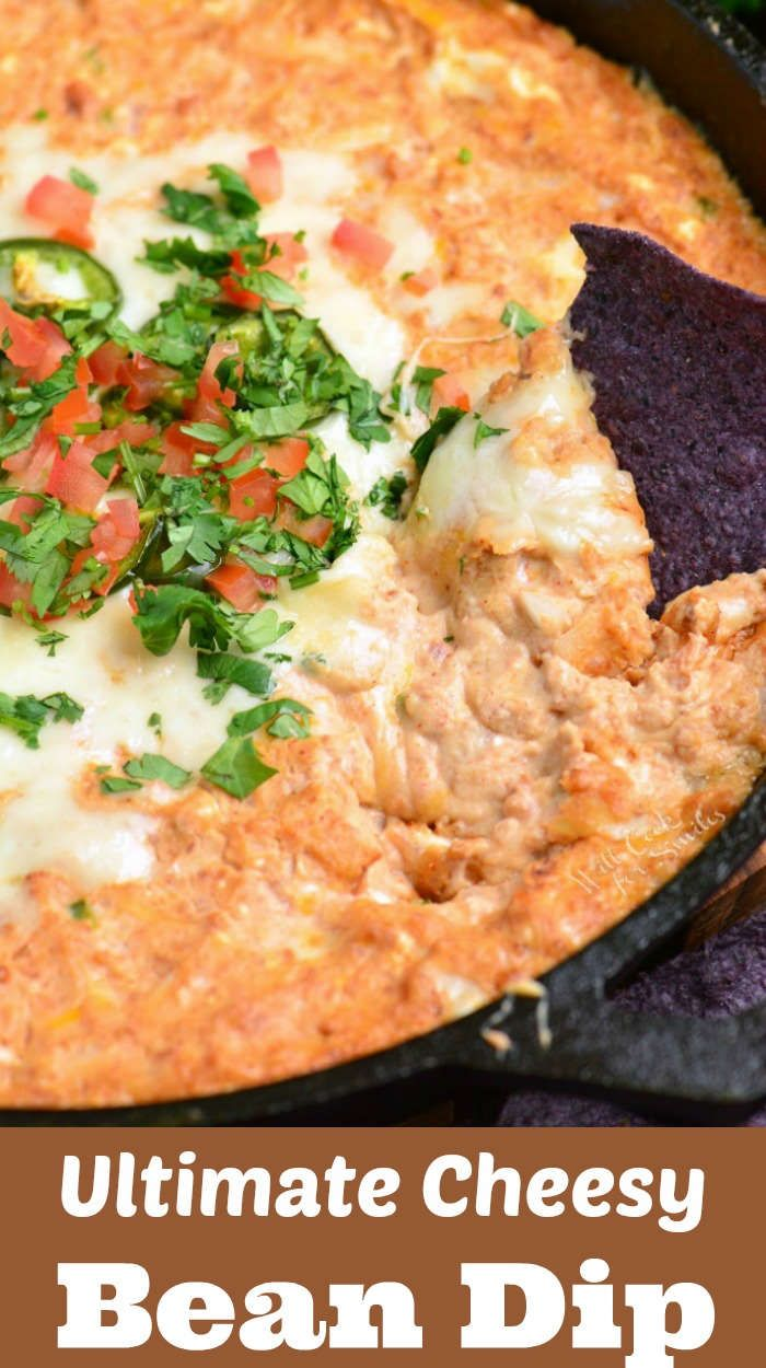 Bean Dip Warm And Cheesy Bean Dip Made With Refried Bean Dip Is Made With Cream Cheese Vegetables Monterrey Jack Cheese Sour Cream And Spices With Images Hot Bean Dip