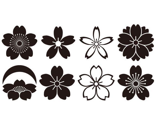 Sakura Flower Drawing | ... sakura kamon1 family crest for japanese cherry sakura kamon2 family