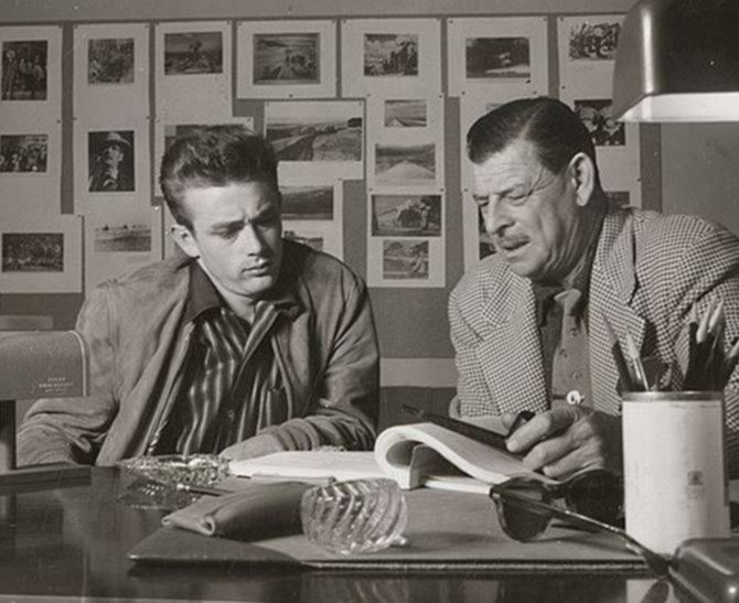 James Dean and screenwriter Fred Guiol