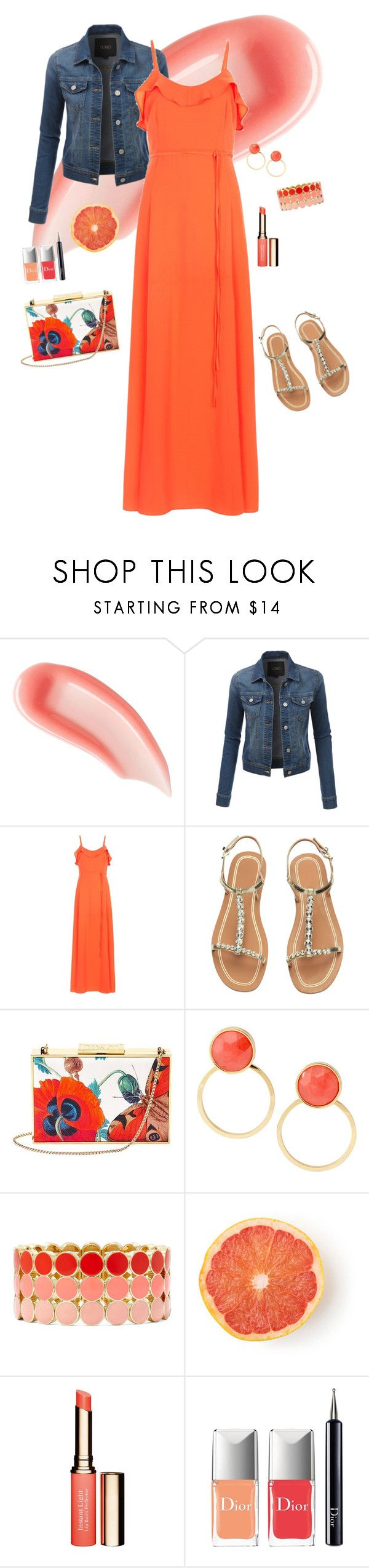 """""""Tangerine"""" by asilosky ❤ liked on Polyvore featuring Ilia, LE3NO, New Look, Aspinal of London, Kate Spade, Liz Claiborne, Clarins and Christian Dior"""