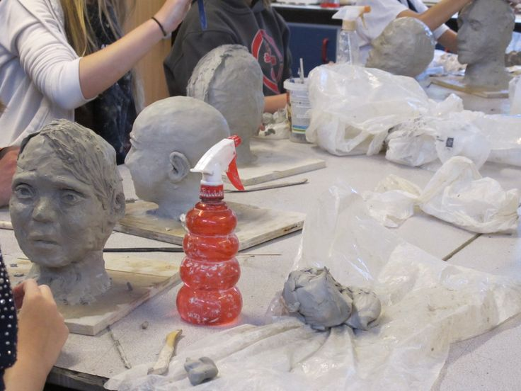 These clay portraits are really starting to take shape! Artist: Auguste Rodin - Content: Creating clay portraits. Medium: Clay. Book online at : www.FineArt4Kids.com