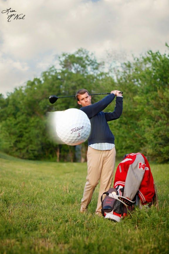 Senior picture ideas for guys, golf, golfers, North Texas. This could be altered for a girls photo shoot.