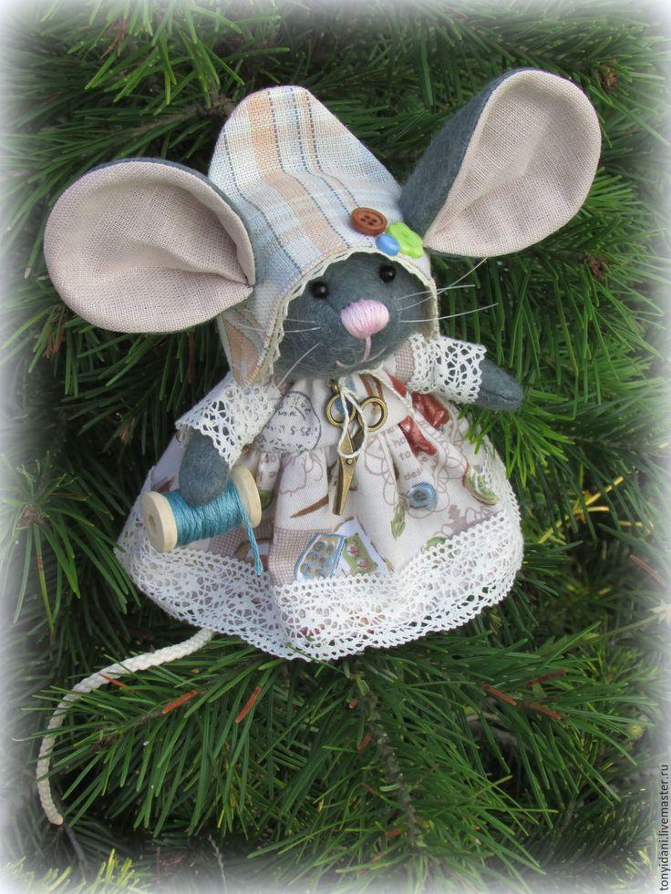 Купить Мышка - малышка с большими ушами Рукодельница - мышка, мышка игрушка, мышка в подарок